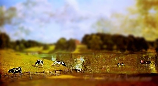 Tilt-Shift John Constable Wivenhoe Park Essex