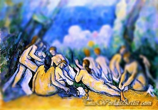Tilt-Shift Paul Cezanne Bathers Les Grandes Baigneuse