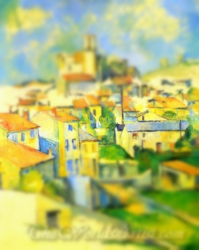 Tilt-Shift Paul Cezanne Gardanne