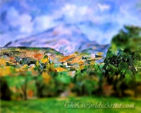 Tilt-Shift Paul Cezanne Sainte Victoire 1890