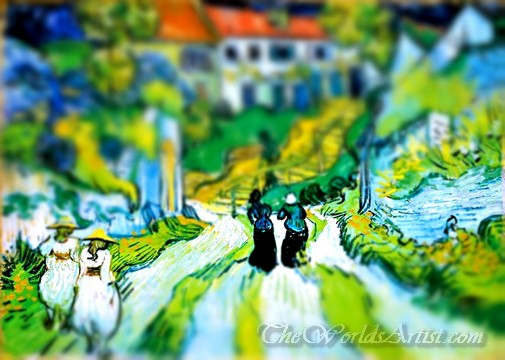 Tilt-Shift Vincent Van Gogh Stairway at Auvers