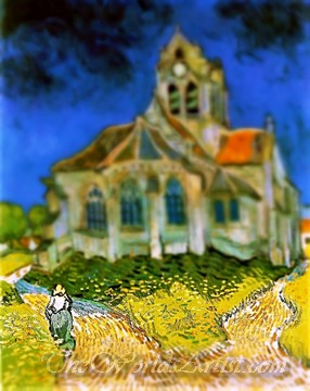 Tilt-Shift Vincent Van Gogh The Church in Auvers Sur Oise View From The Chevet